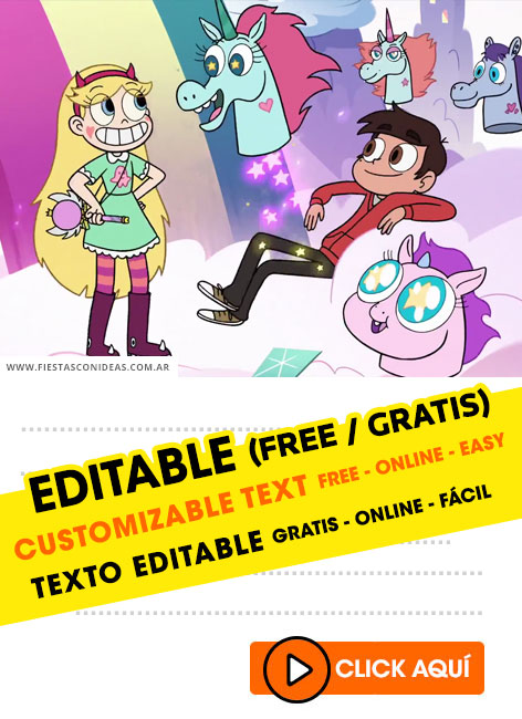 Star Vs. The Forces Of Evil birthday invitation