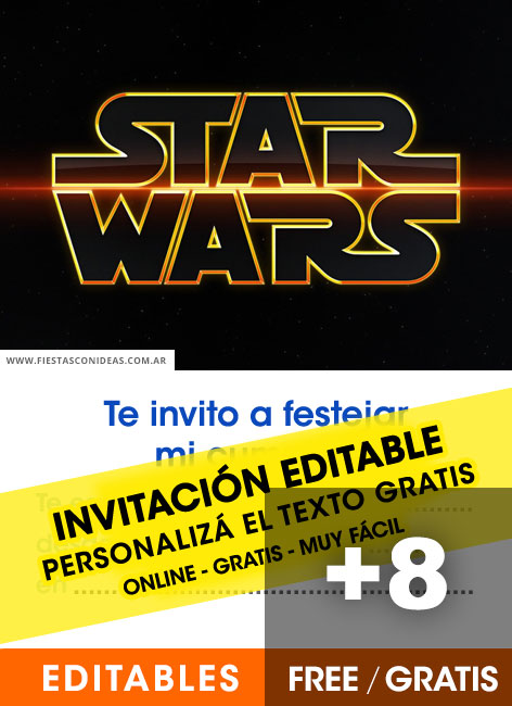 8 Free STAR WARS Birthday Invitations For Edit Customize Print Or Send Via Whatsapp