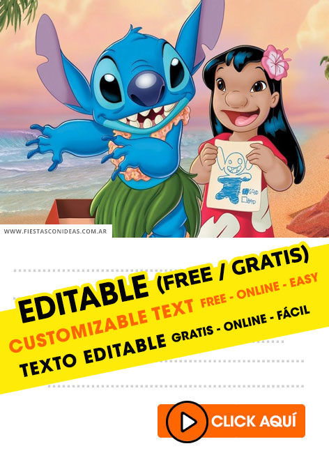 Stitch birthday invitation