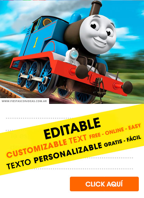 Thomas and friends birthday invitation