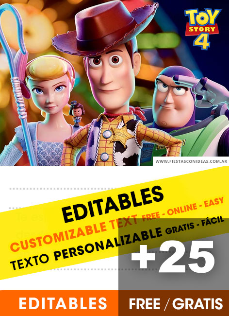 picture relating to Free Printable Toy Story Invitations named Toy Tale totally free birthday invitation templates - Fiestas con guidelines