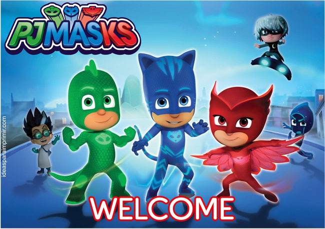 PJ Mask Welcome Sign Poster