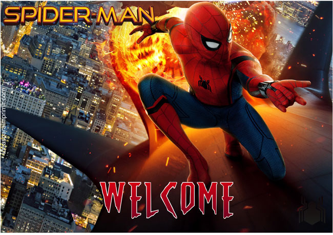 Spiderman Welcome Sign Poster