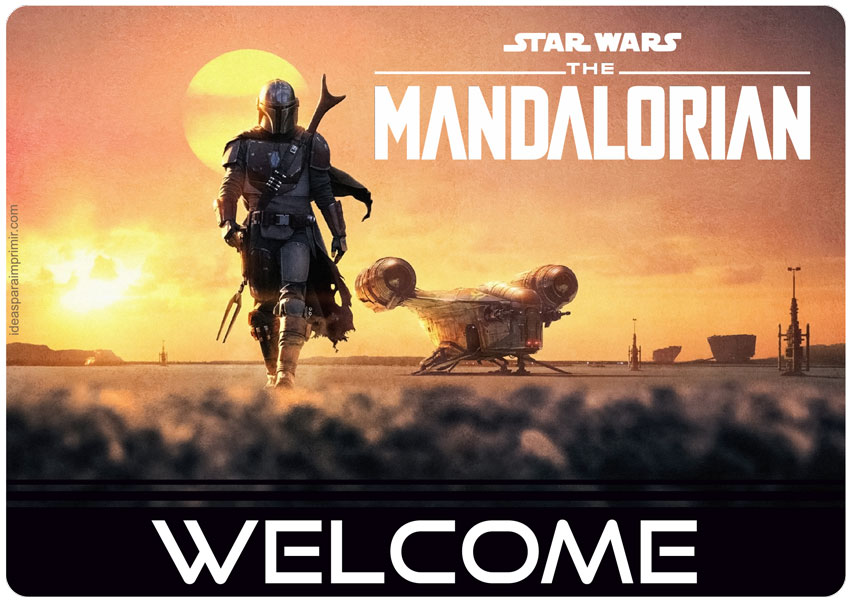 The Mandalorian Welcome Sign Poster
