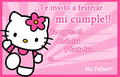 Invitación de Kitty