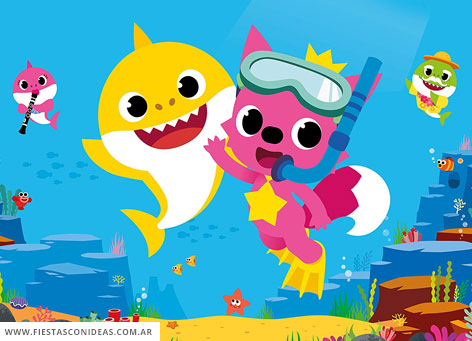 6 Free BABY SHARK PINKFONG Birthday Invitations For Edit Customize