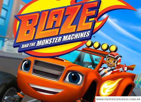 Invitacion de cumpleaños de Blaze and the monster machines