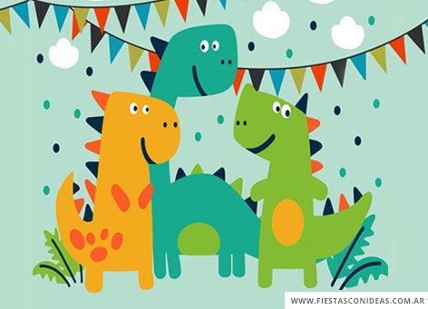 Free Dinosaurs for kids Birthday Invitation