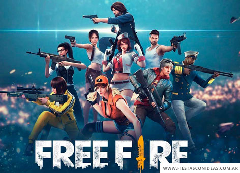 Invitacion de cumpleaños de Free fire battlegrounds