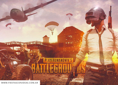 Invitacion de cumpleaños de Playerunknowns Battlegrounds