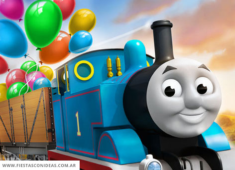 Free Thomas and friends Birthday Invitation